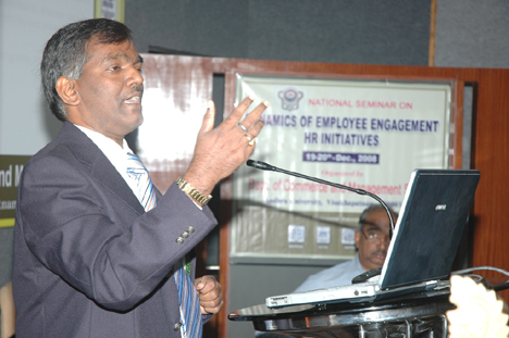 Speaker at Andhra university